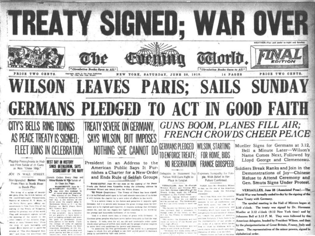 What were the Terms of the Treaty of Versailles?, figure 1