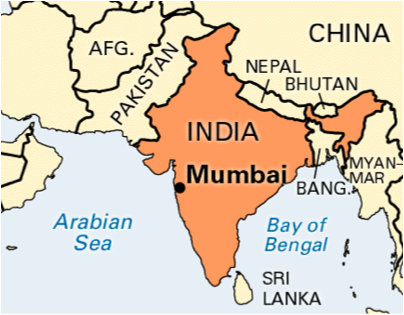 Location of Mumbai, figure 2