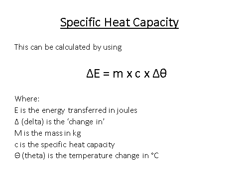 Specific Heat Capacity, figure 1
